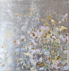 Silver leaf oil painting, Michelle Sakhai, Secrets