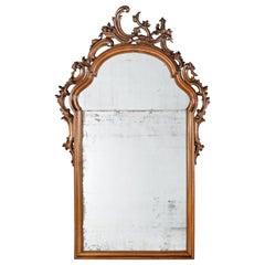 Mid-18th Century Venice Walnut Mirror, circa 1750