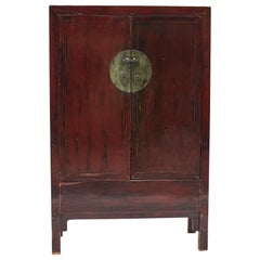 Mid-19th Century Chinese Lacquered Wedding Cabinet