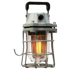 Mid-20th Century European Industrial Mining Cage Lighting