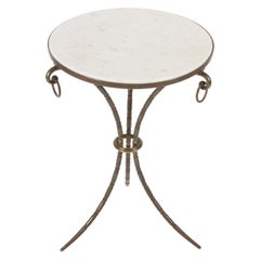 Mid-20th Century French Marble-Top Side Table