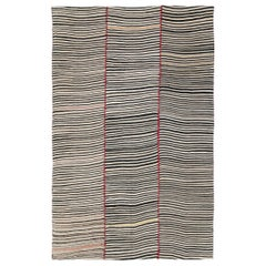 Mid-20th Century Handmade Persian Flat-Weave Tribal Kilim Room Size Accent Rug