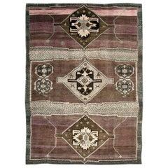 Mid-20th Century Handmade Turkish Anatolian Room Size Carpet