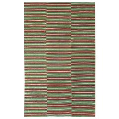 Mid-20th Century Handmade Turkish Flat-Weave Kilim Room Size Accent Rug