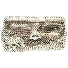 Mid-20th Century Silver Mesh & Austrian Crystal Evening Bag By, Whiting & Davis