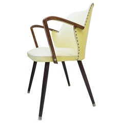 Midcentury Cocktail Side Armchair Chair, France, 1950s
