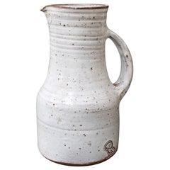 Midcentury French Ceramic Pitcher by Pierlot, circa 1960s
