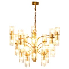 Mid-Century Modern Brass Chandelier by Gaetano Sciolari for Lightolier, 1960s