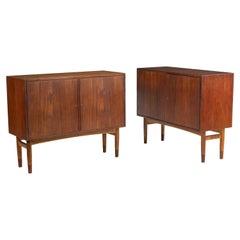 Mid-Century Modern Pair of Cabinets, Nightstand or Commodes Gjovik Mobelfabriken