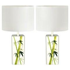 Mid-Century Modern Pair of Swedish Ceramic Table Lamps by Nordiska Kompaniet