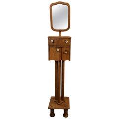 Mid-Century Modern Shaving Stand with Telescoping Mirror