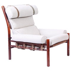 """Midcentury Arne Norell """"Inca"""" Lounge Chair, 1960s"""