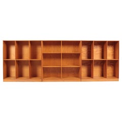 Midcentury Bookcases in Pine by Mogens Koch, Danish Design 1950s