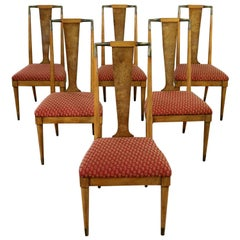 Midcentury Contempora Dining Chairs by William Clingman for J. L. Metz Set of 6