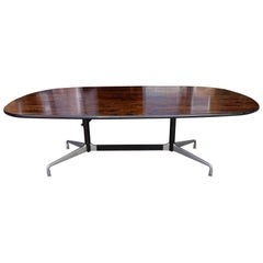 Midcentury Rosewood Segmented Base Table by Eames for Herman Miller
