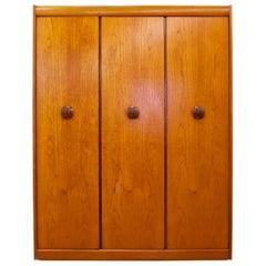 Midcentury Teak Triple Door Wardrobe by Elliots of Newbury, 1960s