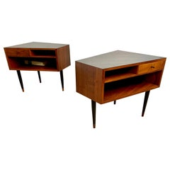 Midcentury Trapezoidal Shaped Nightstands