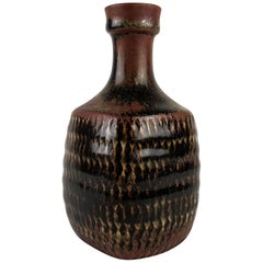 Midcentury Unique Stig Lindberg, Gustavberg Studio Pottery Vase