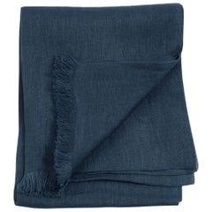 MIDNIGHT BLUE Light Weight Linen Throw