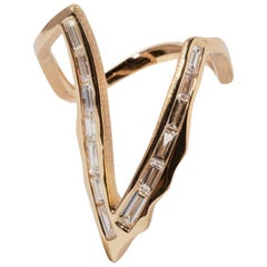 Milamore Fine Jewelry 0.95 Carat Diamond Kintsugi Victoria Ring