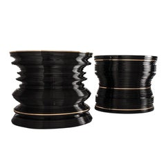 Millé Occasional Table 'Bronze, Black Lacquer' by Hudson