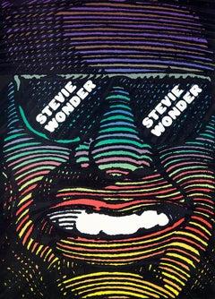Milton Glaser Stevie Wonder poster (Milton Glaser 1960s poster)