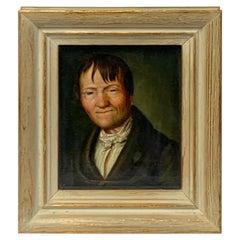 Miniature Portrait of a Sleepy Eyed Man, Circle Christian Wilhelm Ernst Dietrich
