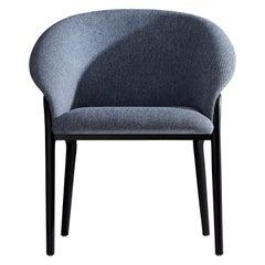 Minimal Organic Chair in Solid Wood, Upholstered Seating