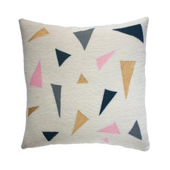 Minimalist Madison Confetti Hand Embroidered Modern Geometric Throw Pillow Cover