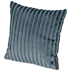 MissoniHome Coomba Cushion in Blue Striped Print Fabric