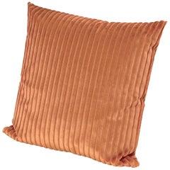 Missoni Home Coomba Cushion in Textured Orange Stripes