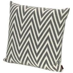 MissoniHome Nossen Cushion with Chevron Print in Black & White