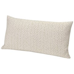 MissoniHome Ontario Cushion in Knit Ivory with Chevron Print
