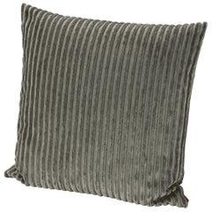 MissoniHome Rabat Cushion in Textured Green Stripes