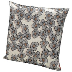 Missoni Home Taiwan Cotton Cushion in Cream and Multi-Color Floral Print