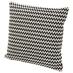 Missoni Home Varsavia Cushion in Black and White Chevron Pattern