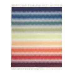 MissoniHome Walt Chevron Wool Jacquard Throw with Rainbow Effect