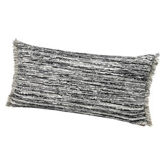 MissoniHome Wattens Yarn-Dyed Flame Stitch Cushion in Black and White