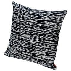 Missoni Home Zermatt Cushion with Black and White Flame Stitch Pattern