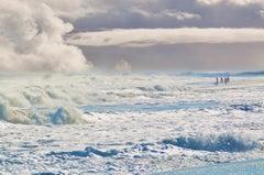 East Hampton Beach, Waves, Clouds Swimmers