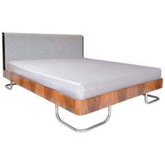 Modern Contemporary Customizable Double Bed in Handcrafted Wood, Germany, 2018