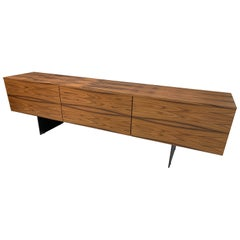 Modern Credenza in Rosewood with Drop-Leaf Doors by Piero Lissoni & Porro