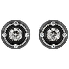 Modern Diamond Stud Earrings