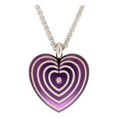 Modern Purple Steel and Platinum Heart