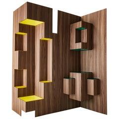 "Modern Sculptural Wood Room Divider ""Kirigami"" by Sebastiano Bottos Italia"