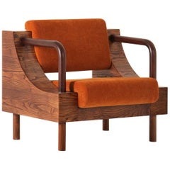 "Modern Wooden Armchair from ""Normative"" Collection"