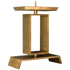 Modernist Church Candlestick, Brass, Early to Mid-20th Century, Germany