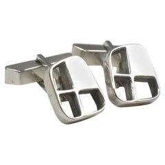 Modernist Sterling Silver Cufflinks by Paul Lobel