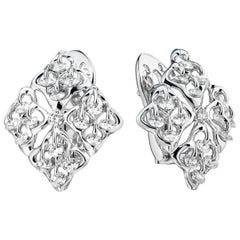 Moiseikin 18 Karat White Gold Diamond Earrings