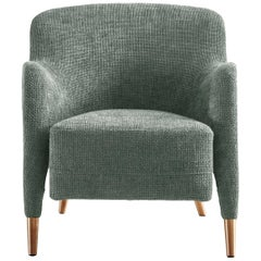 Molteni&C D.151.4 Armchair in Linen Fabric by Gio Ponti